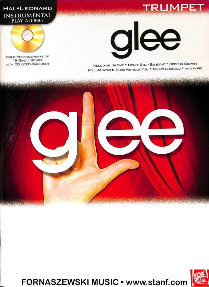 Play Along - Glee For Trumpet Book/CD