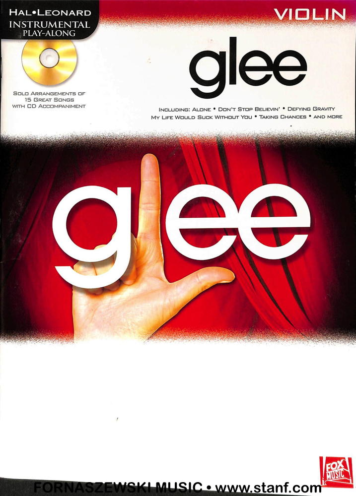 Play Along - Glee For Violin Book/CD