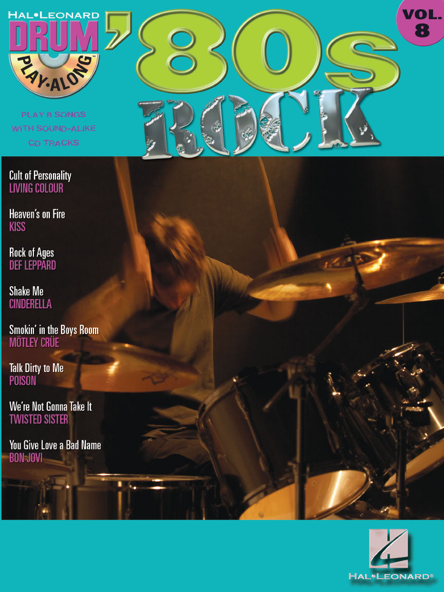 Play Along - '80s Rock Volume 8 - Drum Book/CD - Fornaszewski Music Store, Granite City IL 62040 - www.stanf.com