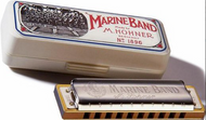 10 Hole Single Row - Marine Band - Hohner (Germany) Harmonica - Key of F - Fornaszewski Music Store, Granite City IL 62040 - www.stanf.com