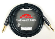 5YR - Stadium 10FT 22awg 1/4-1/4 Mono Instrument Guitar Signal Cable - PVC Black - Fornaszewski Music Store, Granite City IL 62040 - www.stanf.com