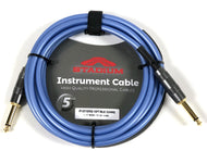 5YR - Stadium 10FT 22awg 1/4-1/4 Mono Instrument Guitar Signal Cable - PVC Blue - Fornaszewski Music Store, Granite City IL 62040 - www.stanf.com
