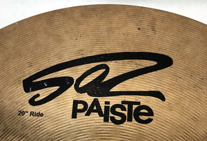 Pre-owned Paiste 20 inch 502 Ride Cymbal 2342g - Z176