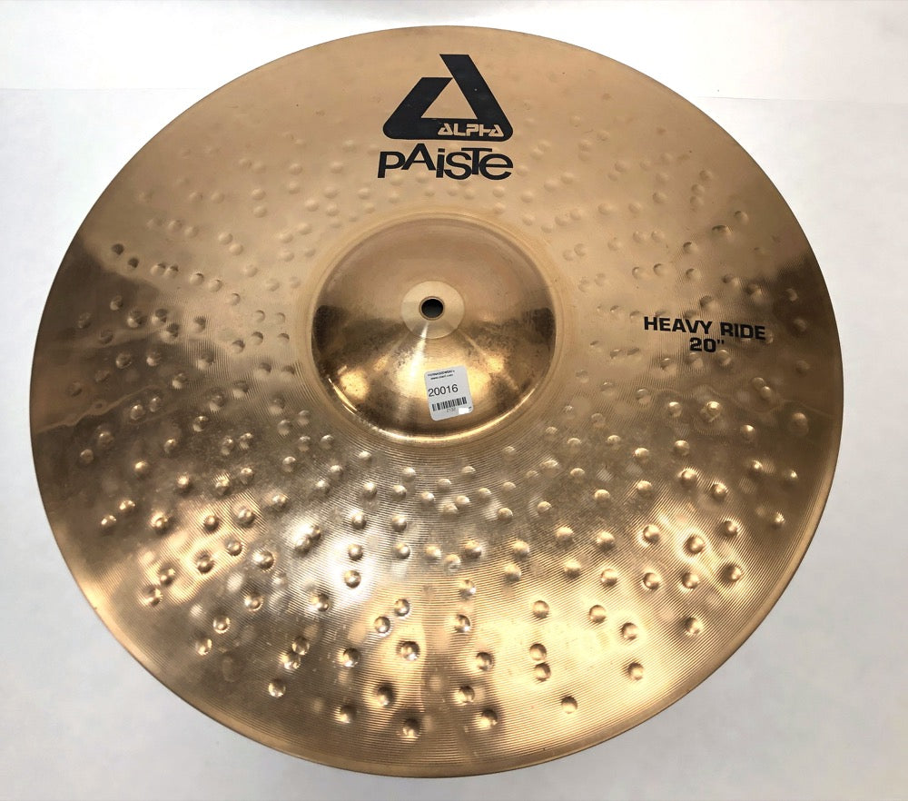 Pre-owned Paiste 20 inch Alpha Heavy Ride Cymbal 2608g - Z132 - Fornaszewski Music Store, Granite City IL 62040 - www.stanf.com