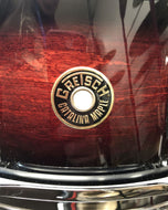 Pre-owned Gretsch 6 x 14 8-lug Catalina Maple Snare Drum - Dark Cherry Burst - Fornaszewski Music Store, Granite City IL 62040 - www.stanf.com