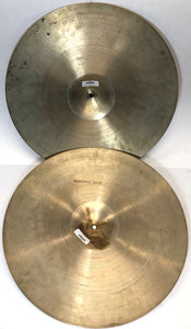 Vintage 20 inch Zildjian Marching Crash Cymbals Pair 2672g+2628g- Z118