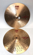 Pre-owned Paiste 14 inch Crunch Hats Hi-Hat Cymbals Pair 974g+1362g - Z165 - Fornaszewski Music Store, Granite City IL 62040 - www.stanf.com