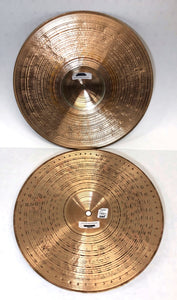 14 inch Paiste Crunch Hats Hi-Hat Cymbals Pair 974g+1362g [preowned]