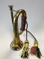 Medium Copper & Brass Bugle Horn  - Civil War Army Scout Christmas Holiday - Fornaszewski Music Store, Granite City IL 62040 - www.stanf.com