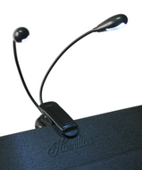 Hamilton KB9502 - LED Dual Gooseneck Music Stand Light - Fornaszewski Music Store, Granite City IL 62040 - www.stanf.com