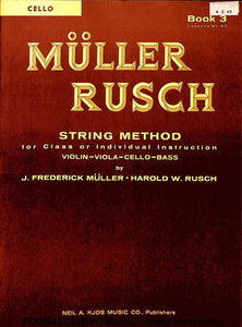 Muller Rusch - String Class Method - Cello Book 3 - Fornaszewski Music Store, Granite City IL 62040 - www.stanf.com