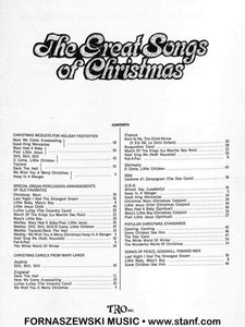 Laub - The Great Songs Of Christmas - Easy Organ and Piano - Fornaszewski Music Store, Granite City IL 62040 - www.stanf.com