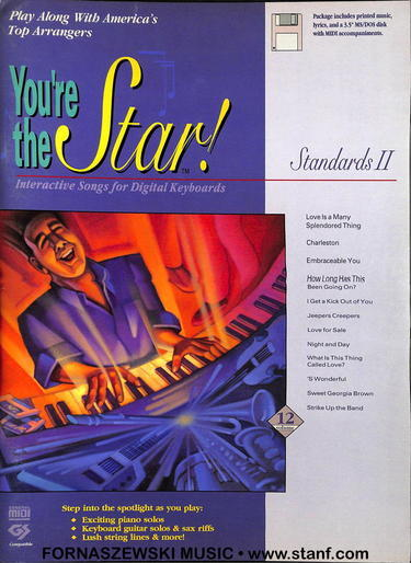 You're The Star - Standards II - Piano Vocal Guitar - Fornaszewski Music Store, Granite City IL 62040 - www.stanf.com
