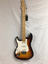 Load image into Gallery viewer, Austin AST100 Left-handed Double Cut-away Electric Guitar - Sunburst - B13040293 - Fornaszewski Music Store, Granite City IL 62040 - www.stanf.com