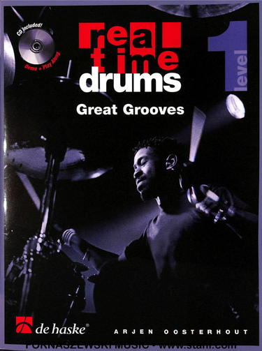 Real Time Drums - Great Grooves - Level 1 - Drumset - Book/CD - Fornaszewski Music Store, Granite City IL 62040 - www.stanf.com