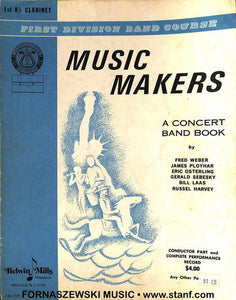 Music Makers Concert Band Book (Peters) - Clarinet - Fornaszewski Music Store, Granite City IL 62040 - www.stanf.com