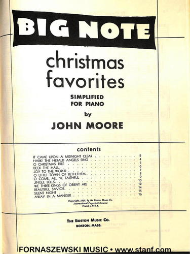 Big Note Christmas Favorites (Moore) - Simplified Piano - Fornaszewski Music Store, Granite City IL 62040 - www.stanf.com