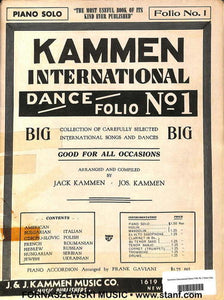 Kammem International Dance Folio No 1 Piano Solo - Fornaszewski Music Store, Granite City IL 62040 - www.stanf.com
