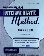 Rubank Intermediate Method - Bassoon Book - Fornaszewski Music Store, Granite City IL 62040 - www.stanf.com