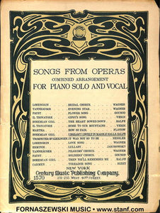 Songs From Operas -   Piano Vocal Guitar - Fornaszewski Music Store, Granite City IL 62040 - www.stanf.com