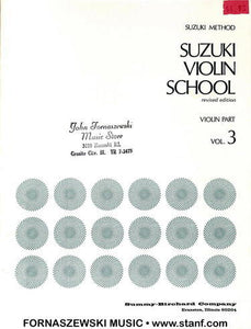 Suzuki Violin School - Violin Part - Volume 3 - Fornaszewski Music Store, Granite City IL 62040 - www.stanf.com