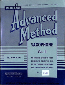 Rubank Advanced Method - Saxophone Book Vol 2 - Fornaszewski Music Store, Granite City IL 62040 - www.stanf.com