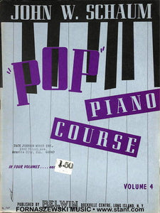 Schaum Pop Piano Course - Volume 4 - Fornaszewski Music Store, Granite City IL 62040 - www.stanf.com