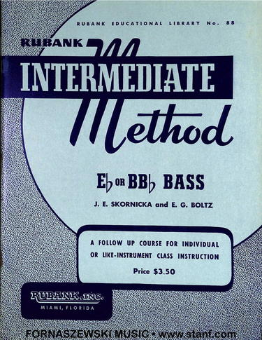 Rubank Intermediate Method - Eb or Bb Tuba Bass Book - Fornaszewski Music Store, Granite City IL 62040 - www.stanf.com