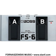Boss - FS6 Dual Foot switch - Fornaszewski Music Store, Granite City IL 62040 - www.stanf.com