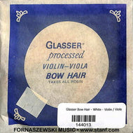 Glasser - Processed White Bow Hair for Violin / Viola - Fornaszewski Music Store, Granite City IL 62040 - www.stanf.com