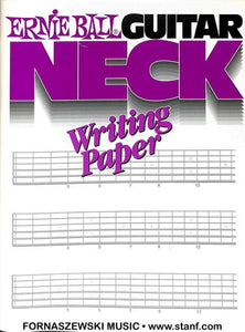 Ernie Ball - Guitar Neck Writing Paper - Fornaszewski Music Store, Granite City IL 62040 - www.stanf.com