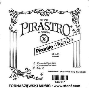 Pirastro Piranito - 3/4 1/2  Violin D String - Steel Ball 6153 - Fornaszewski Music Store, Granite City IL 62040 - www.stanf.com
