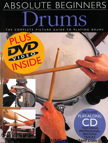 Absolute Beginners Drums - Drumset Book/DVD - Fornaszewski Music Store, Granite City IL 62040 - www.stanf.com
