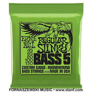 Ernie Ball 2836 Regular Slinky Roundwound 5-String Electric Bass Strings Set - 45/65/80/100/130 - Fornaszewski Music Store, Granite City IL 62040 - www.stanf.com