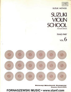 Suzuki Violin School - Piano Acc - Vol 6 - Fornaszewski Music Store, Granite City IL 62040 - www.stanf.com