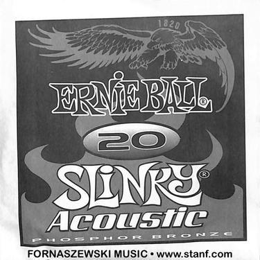 .020 Phosphor Bronze - Ernie Ball - Slinky Acoustic Guitar String - Fornaszewski Music Store, Granite City IL 62040 - www.stanf.com
