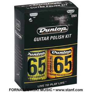 Dunlop - 65 Guitar Polish Cleaner and Cloth Kit - Fornaszewski Music Store, Granite City IL 62040 - www.stanf.com