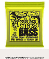 Ernie Ball 2832 Regular Slinky Roundwound Bass Strings Set - 50/70/85/105 - Fornaszewski Music Store, Granite City IL 62040 - www.stanf.com