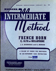 Rubank Intermediate Method - French Horn Book - Fornaszewski Music Store, Granite City IL 62040 - www.stanf.com