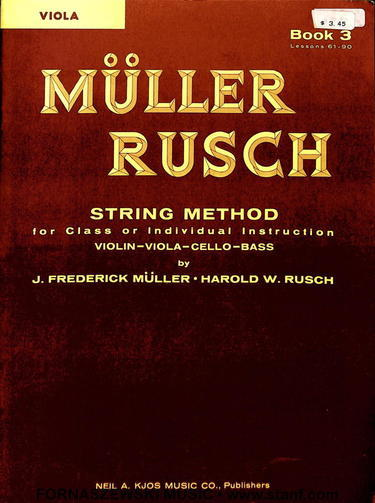 Muller Rusch - String Class Method - Viola Book 3 - Fornaszewski Music Store, Granite City IL 62040 - www.stanf.com