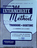 Rubank Intermediate Method - Trombone Baritone Book - Fornaszewski Music Store, Granite City IL 62040 - www.stanf.com