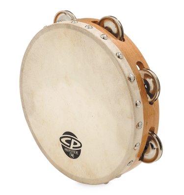 LP - 8 inch Single Row Tambourine with Goatskin Head - CP378 - Fornaszewski Music Store, Granite City IL 62040 - www.stanf.com
