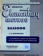 Rubank Elementary Method - Bassoon Book - Fornaszewski Music Store, Granite City IL 62040 - www.stanf.com