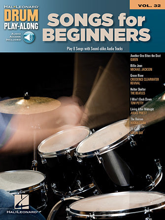 Songs for Beginners - Drums Play-Along Volume 32 - Fornaszewski Music Store, Granite City IL 62040 - www.stanf.com