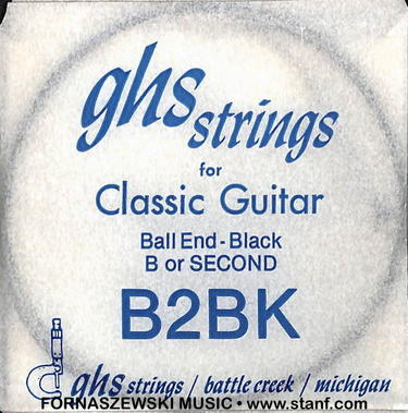 GHS - Ball End - Black Second String B2Bk - Fornaszewski Music Store, Granite City IL 62040 - www.stanf.com