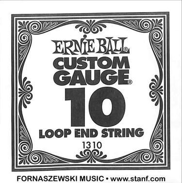 Ernie Ball - Custom Gage 10 Loop End Black Guitar String 1310 - Fornaszewski Music Store, Granite City IL 62040 - www.stanf.com