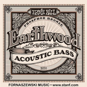 Ernie Ball 2070 Earthwood Phosphor Bronze Acoustic Bass Set .045 - .095 - Fornaszewski Music Store, Granite City IL 62040 - www.stanf.com