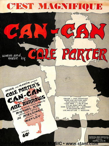 Porter - Can Can Piano Vocal Guitar - Fornaszewski Music Store, Granite City IL 62040 - www.stanf.com