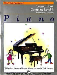 Alfred's Basic Piano - Lesson Book Complete Level 1 - Fornaszewski Music Store, Granite City IL 62040 - www.stanf.com