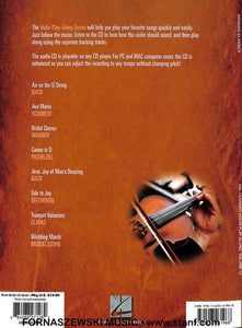 Hal Leonard - Play Along Wedding Classics - Violin - Vol 12 - CD - Fornaszewski Music Store, Granite City IL 62040 - www.stanf.com
